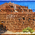 Hopi House And Dedication Plaque by David Lee Thompson