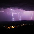 Horizontal And Vertical Lightning by Ron Chilston