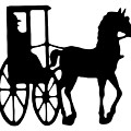 Horse And Buggy Vector by Roger Witmer