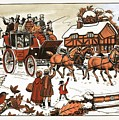 Horse And Carriage In The Snow by English School