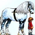 Horse And Groom by Paula Chapman