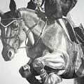 Horse And Jockey by Darcie Duranceau