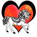 Horse And The Heart Watercolor by Irina Sztukowski