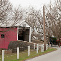 Horse Buggy And Covered Bridge by David Arment