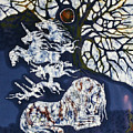 Horse Dreaming Below Trees by Carol  Law Conklin