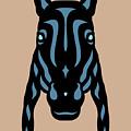 Horse Face Rick - Horse Pop Art - Hazelnut, Niagara Blue, Island Paradise Blue by Manuel Sueess