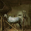 Horse In A Stable by Gerard Terborch