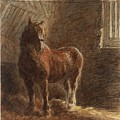 Horse In A Stable by William Henry