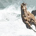 Horse In The Storm - Parallel Hatching by Samuel Majcen