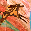 Horse Jumping Over Colors by Anne-Elizabeth Whiteway