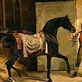 Horse Leaving A Stable by Gericault Theodore