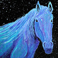 Horse-midnight Snow by Nick Gustafson