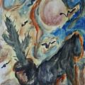 Horse Of Moon Desert by Katt Yanda