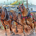 Horse Pull At The Fair by Mike Martin