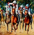 Horse Race by Leonid Afremov