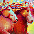 Horse Stampede Painting by Svetlana Novikova