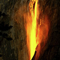 Horse Tail Fall Aglow by Greg Norrell