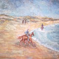 Horseback On The Beach by Joseph Sandora Jr