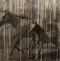Horses Abstract Mare And Foal by Karla Beatty