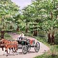 Horses And Wagon by Olga Silverman