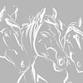 Horses Friends by Go Van Kampen