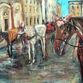 Horses In Florence by Christa Koritko
