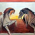 Horses In The Field by Masoud Farshchi