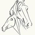 Horses Mother Love by Go Van Kampen