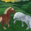 Horses Of The Rising Sun by Anna Folkartanna Maciejewska-Dyba