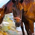 Horses On Jost  by Leon Miller