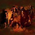 Horses Paintings 34b by Gull G