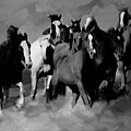 Horses Stampede 01 by Gull G