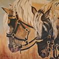 Horseshoe And Dan by Donna Steward