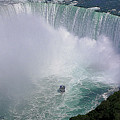 Horseshoe Falls And Maid Of The Mist by DigiArt Diaries by Vicky B Fuller