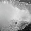 Horseshoe Falls Black And White by DigiArt Diaries by Vicky B Fuller
