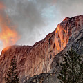 Horsetail Falls Cloudy Sunset by Connie Cooper-Edwards