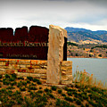 Horsetooth Peak Above The Reservoir by Aaron Burrows