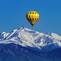 Hot Air Balloon Above The Rockies by Teri Virbickis