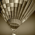 Hot Air Balloon And Bucket In Sepia Tone by Randall Nyhof