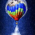 Hot Air Balloon / Digital Art by Emily Miller