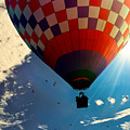 Hot Air Balloon Eclipsing The Sun by Bob Orsillo