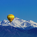 Hot Air Balloon In Colorado by Teri Virbickis