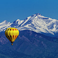 Hot Air Balloon In Rocky Mountains by Teri Virbickis