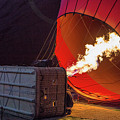 Hot Air Balloon. Inflation. by Vadim K