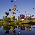 Hot Air Balloon Mass Ascension by Owen Ashurst