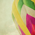 Hot Air Balloon With Pastel Sky by Erin Cadigan
