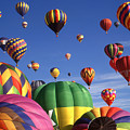 Beautiful Balloons On Blue Sky by Peter Potter