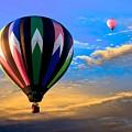 Hot Air Balloons At Sunset by Bob Orsillo