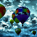 Hot Air Balloons In Albuquerque by Jeff Swan