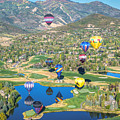 Hot Air Balloons Over Park City by James Udall